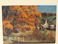 "Vtg JK Straus Interlocking Wood Jigsaw Puzzle ""Glory That is Autumn"" 750 pieces"