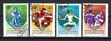 JO été Hongrie (47) série complète de 4 timbres oblitérés