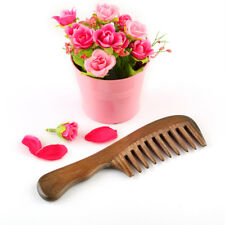 New 1 Pc Wooden Comb Natural Sandalwood Handmade Wide Tooth Massage Comb