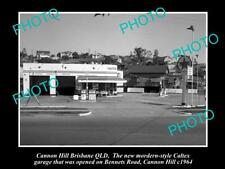OLD 8x6 HISTORICAL PHOTO OF THE CANNON HILL CALTEX SERVICE STATION c1964 QLD