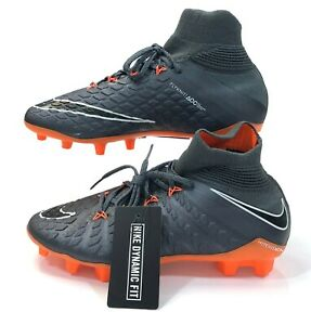 Nike JR Hypervenom Phantom III 3 Elite DF FG Soccer Cleats Grey AH7292-081 Sz 4Y