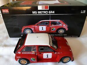 RARE 1:18 CODE 3 MG METRO 6R4 PROTOTYPE POND 1984 YORK NAT Rally Race Motorsport