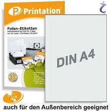 Wetterfeste Etiketten Format Auswahl - Folie Wei�Ÿ oder Transparent wetterfest A4