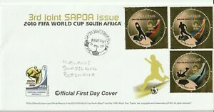 MAURITIUS 9 APRIL 2010 WORLD CUP COMMEMORATIVE STAMP FIRST DAY COVER c
