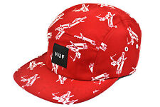HUF JOYRIDE 5 PANEL CAP RED OSFA ADJUSTABLE DEADSTOCK SKATEBOARD MADE IN USA
