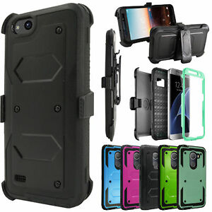 ZTE Blade Vantage, ZTE Tempo X, Built-in Screen Protector Holster Case w/Freebie