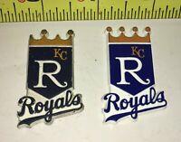 LOT Vtg MLB 2 KANSAS CITY ROYALS Rubber Fridge MAGNETS Standings Board BASEBALL