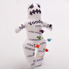 1pc Authentic Voodoo Doll With 7 color Skull Pins New Orleans