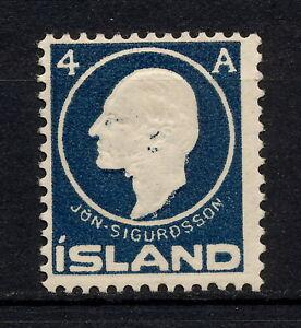 (YYAK 051) Iceland 1911 MNH ERROR Jon Sigurdsson definitive