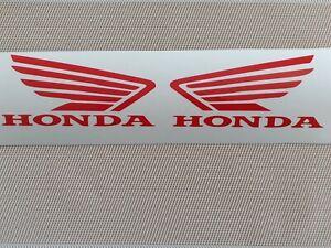 -Hochwertige Premium Honda Motorrad Aufkleber-Sticker in Rot.