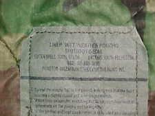 USGI PONCHO LINER / BLANKET - GREEN WOODLAND CAMO