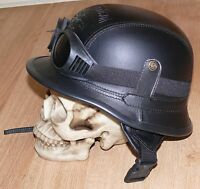 Quality costume German Helmet WW2 Nazi M42 Motorcycle Style size L with goggles