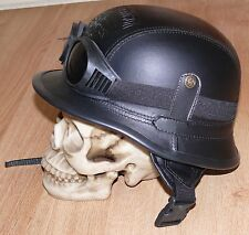 Quality costume German WW2 Nazi M42 Motorcycle Style  Helmet size L with goggles