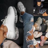 Damen Sneaker Sportschuhe Turnschuhe Laufschuhe Luftkissen Freizeit Schnürschuhe