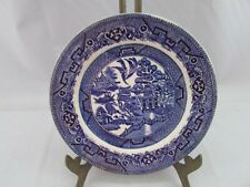 """Staffordshire England Ye Olde Willow Blue & White 6.1/2"""" China Tea Plate"""