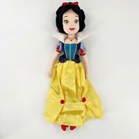 """Authentic Disney Snow White Plush Doll Red Shoes Rose Details Large 20"""" Tall"""