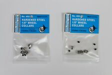 "Carl Goldberg Hardened Steel 1/8"" Wheel Collars #492, 2 Packs, 8 Collars, NOS"