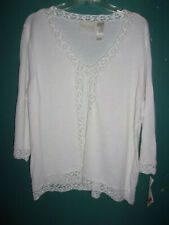 NWT First Issue off-white open front sweater   Size  1X (14W-16W)