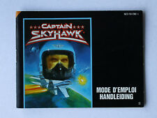 Captain Skyhawk -- Nintendo NES -- Manual (NES-YW-FAH-1)