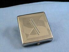 Nilde Paris Art Deco Antique Vintage French Enamel Powder Mirror Pocket Compact
