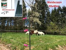 Clôture ELECTRIQUE plastique vert PVC Weidezaun cheval Poteaux de