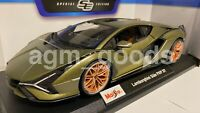 Maisto 1:18 Scale - Lamborghini Sian FKP 37 - Green - Diecast Model Car