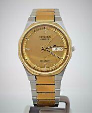 Vintage Citizen CQ Crystron mens quartz watch