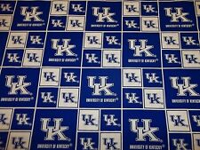 UNIVERSITY OF KENTUCKY  WILDCATS NEW  SQUARE DESIGN 100% COTTON  1 YARD PIECE