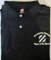 "3RD INFANTRY DIVISION "" ROCK OF THE MARNE "" EMBROIDERED LIGHTWEIGHT POLO SHIRT"