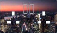 New York City Double Plug Socket vinyl cover decal bedroom sticker D27
