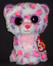 "TY BEANIE BOOS - SERENA the 6"" SNOW LEOPARD - JUSTICE EXCLUSIVE - MINT TAG"