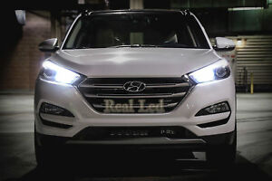 Hyundai Tucson TLE 2015-on Pair Bulbs H7 LED Headlight High Beam 90W 6000K White