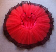 Tutu Ballet Classical Red & Black 8 Layer Hard Net Tutu Adult Size 10-12 NEW