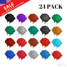 Mica Powder Pigments 24 Colors Cosmetic Grade Bath Bomb Soap Making Colorant Dye