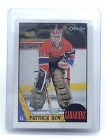 1987-1988 Patrick Roy #163 Montreal Canadiens OPC O-Pee-Chee Hockey Card H628