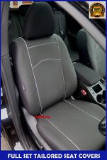 Black Eco-Leather Tailored Full Set Seat Covers Skoda Superb Mk2 / II 2008 -2015