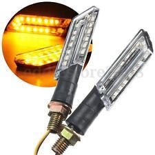 2pcs LED Turn Signal Motorcycle Light Lamp Indicator Blinker Light Amber Blade