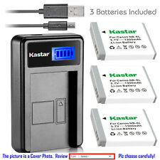 Kastar Battery LCD Charger for Canon NB-6L NB-6LH & Canon PowerShot S95 Camera