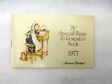 1977 My Special Things to Remember Book, American Greetings, Holly Hobbie, NEW
