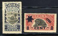 1936 Liberia 2-Stamp Set Sc 429 A60 & 249 A61🦙 MNH OG FILED