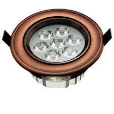 5pcs 7W Led Spot à encastrer en cuivre Boutique deco classique Antique