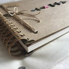 Handmade Personalised Memory Book/ Scrapbook/ Photo Album/ Guest Book A4 Vintage