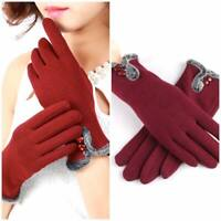 Women Winter Gloves Fleece Thermal Touch Screen Thick Glove Comfy Soft
