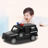 Police Diecast Vehicle 1:32 Alloy Model Pull Back Car with Sound & Light Kid Toy