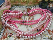 WOW! Rosa & Pink 7-Strang Plastik Halskette Collier Lucite Plastic Necklace