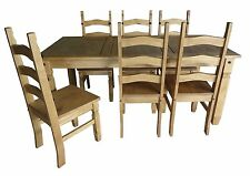 "Mercers Furniture® Corona 6'0"" Dining Table and 6 Chairs"