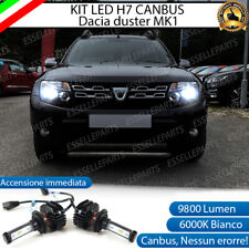 KIT FULL LED DACIA DUSTER MK1 H7 6000K BIANCO 9800 LUMEN CANBUS PLUG AND PLAY