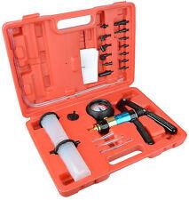 Hand Held Vacuum Pump Brake Bleeder Tool Set Bleed tester Kit 2 Jars Car Bike