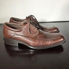 CLAIBORNE Mens Sz 10.5  Stylish Brown Leather Lace Up Oxfords Dress Shoes. Nice!