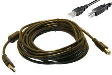 USB Kabel A / B 5m mit Ferrit - Druckerkabel USB Anschlußkabel Verbindungskabel